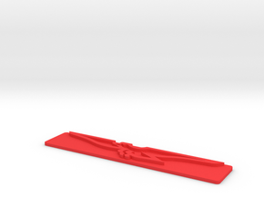 DeTomaso Badge - LH (no steel) in Red Processed Versatile Plastic