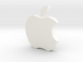 Large Apple  Logo 8cm x 10cm x 2cm  in White Processed Versatile Plastic