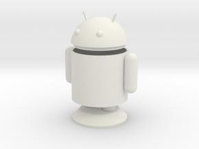 Small Android Model 6cm x 4cm x 7.5cm in White Natural Versatile Plastic
