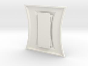 Widow Belt Buckle in White Processed Versatile Plastic