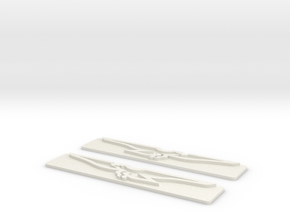 DeTomaso Badges - Both (no steel) in White Natural Versatile Plastic