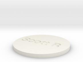 by kelecrea, engraved: Scott R in White Natural Versatile Plastic