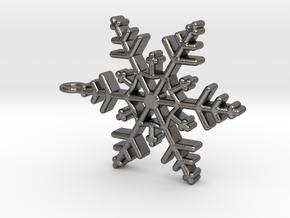 Schneeflocke  mit Öse in Polished Nickel Steel