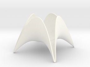 Paraboloid Candle Holder in White Processed Versatile Plastic
