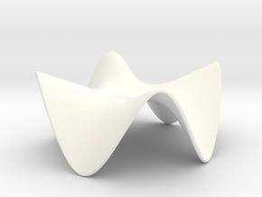 Paraboloid Sculpture in White Processed Versatile Plastic