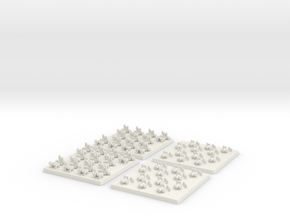 2mm DBA Chariots and Cannons in White Natural Versatile Plastic