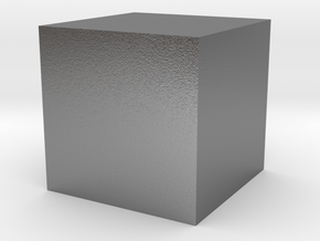 1x1x1 Cube in Natural Silver