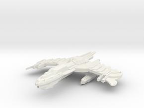 Birdgan Class Battleship -small- in White Natural Versatile Plastic