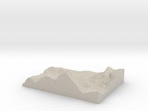 Model of Poortown in Natural Sandstone