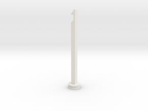 NERF Stampede Plunger rod in White Natural Versatile Plastic