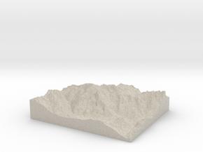 Model of Peindein in Natural Sandstone