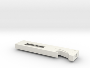 Utility-blade holder w/clip in White Natural Versatile Plastic