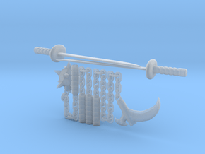 Bot Ninja Weapons in Smooth Fine Detail Plastic