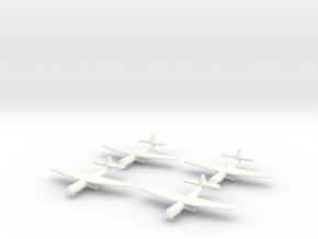 AS.51 Horsa Glider (United Kingdom) 1/600- (x4) in White Processed Versatile Plastic