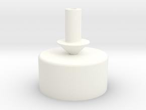 18 mm Test Tube Mark - Round Arrow in White Processed Versatile Plastic