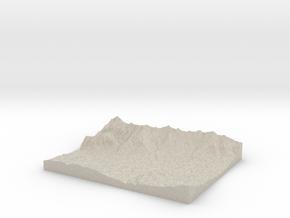 Model of Hötting in Natural Sandstone
