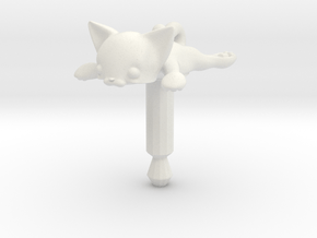 Flat Cat, Jack Protector Audio in White Natural Versatile Plastic