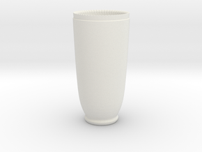 Shotgunshotglass Ceramic in White Natural Versatile Plastic