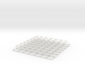 Spaceframe (scale:1/50) in White Natural Versatile Plastic