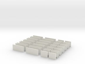 Platform Signs 4mm Scale in White Natural Versatile Plastic