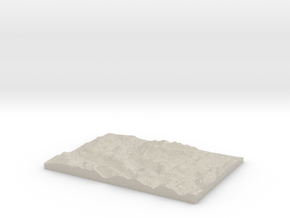 Model of Buttermere in Natural Sandstone