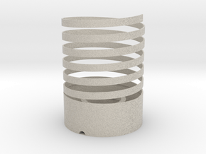 Helical Table Lamp in Natural Sandstone