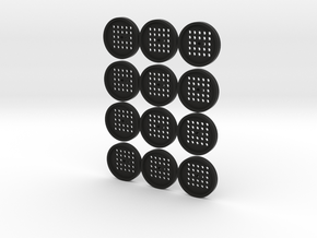 "1"" embroidery buttons w/shank (dozen) in Black Natural Versatile Plastic"