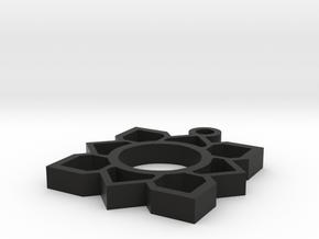 lotus design in Black Natural Versatile Plastic