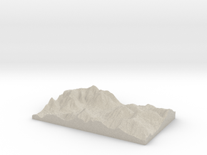 Model of Bergamo in Natural Sandstone