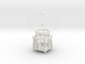 """Cage for birds from the """"COCOLA"""" for shapeways in White Natural Versatile Plastic"""