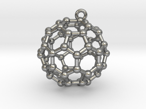 BuckyBall C60 Earring, Silver, 1.7cm in Natural Silver