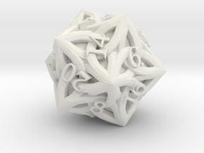 Celtic D20 - Solid Centre for Plastic in White Natural Versatile Plastic