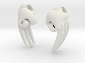 Claw Hands in White Natural Versatile Plastic