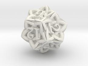 Celtic D12 - Solid Centre for Plastic in White Natural Versatile Plastic
