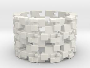 Grinder Ring Size 10 in White Natural Versatile Plastic