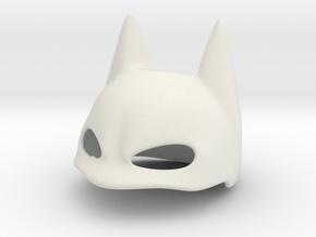 Eared Cover Mask Stl in White Natural Versatile Plastic