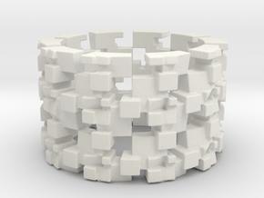 Grinder Ring Size 8 in White Natural Versatile Plastic