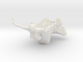 Mermaid Bowl Done in White Natural Versatile Plastic