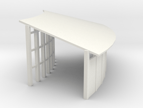 SnowShed 195 InnerCurve - Zscale in White Natural Versatile Plastic