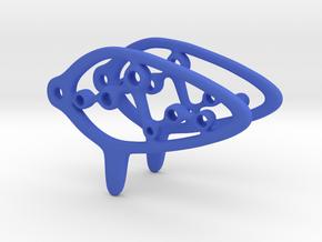 Orcarina Earring in Blue Processed Versatile Plastic