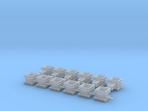 Guide Chute for Rail Train- 12 pc. in Smooth Fine Detail Plastic