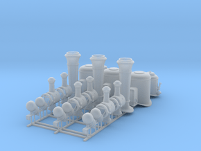 Couillet Fittings for 1/17 Scale in Smooth Fine Detail Plastic