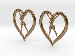 Joyful In Heart Earrings (wearing skirt) in Natural Brass