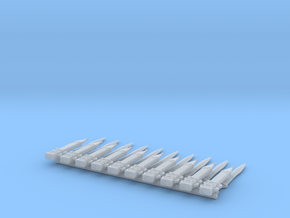 10 Roman power blades (gladius) for 28mm minis in Smooth Fine Detail Plastic