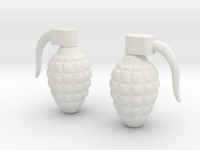 Grenade 6g in White Natural Versatile Plastic