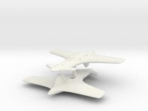 1/200 Henschel Hs P-75k 'Kurt' (x2) in White Natural Versatile Plastic