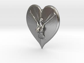 Joyful In Heart Pendant in Natural Silver