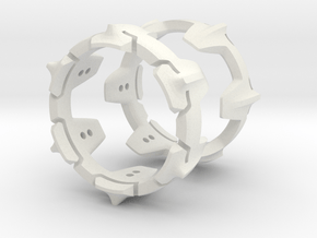 Mystery Ring (Large, 22 mm opening) in White Natural Versatile Plastic