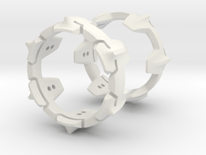 Mystery Ring (small) 17 mm in White Natural Versatile Plastic