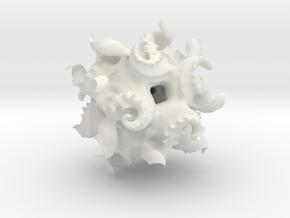Modified Quaternion IFS 3D Fractal in White Natural Versatile Plastic